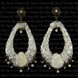 Pendientes Ivory